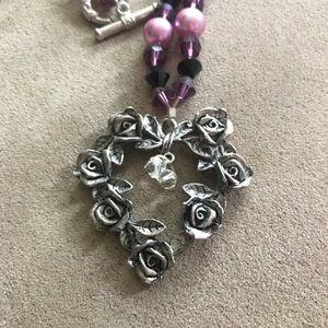 Jewelry - Gorgeous Handmade Beaded Necklace & Bracelet Set💜
